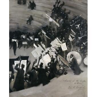Probe des Pasdeloupe Orchesters John Singer Sargent 1856-1925 amerikanische Poster drucken