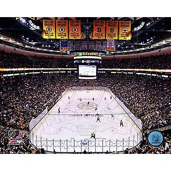 TD Garden 2011 Stanley Cup Chapionship Banner Raising Sports Photo