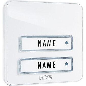 Bell panel with nameplate 2x m-e modern-electronics KTA-2 W White 12 V/1 A