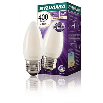 Sylvania Retro-Filament-LED-Lichtquelle rot led 4W Satin 400Lm E27
