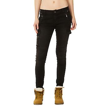 Slim Faded Cargo Jeans - Black