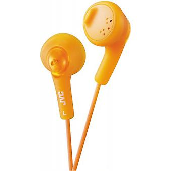 JVC Gumy Bass Boost Stereo Headphones for iPod iPhone MP3 and Smartphone - Valencia Orange