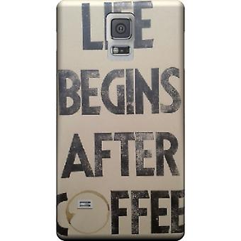 Life begins after coffee mate cover for Galaxy S5