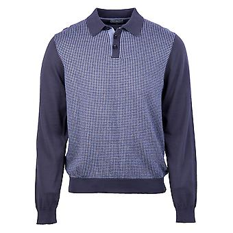 Knitted Polo Top in Charcoal
