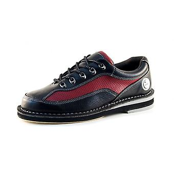 Bowlio Pro series deep red - leather Bowling shoes for men and women in black and Red