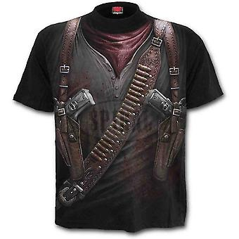 Spiral -HOLSTER WRAP- Wrap Around Short Sleeve T-Shirt .