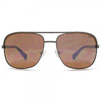 SUUNA Jackson Square Aviator In Shiny Gunmetal