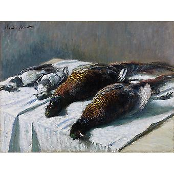 Claude Monet - Still Life with Pheasants and Plovers Poster Print Giclee