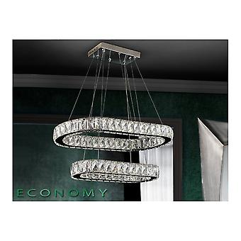 Schuller Diva LED Double Open Oval Ceiling Pendant