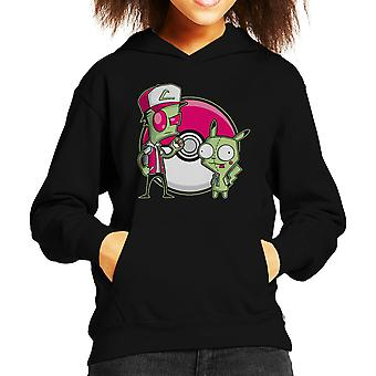 PoGIRmon Invader Zim Pokemon Kid's Hooded Sweatshirt