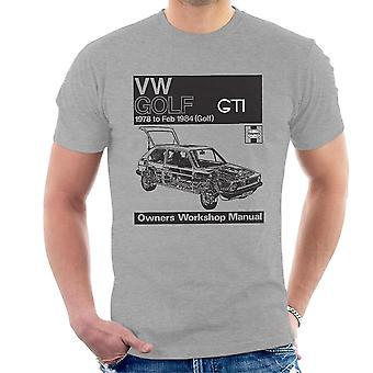 Haynes Workshop Manual VW Golf GTI 78 to 84 Black Men's T-Shirt