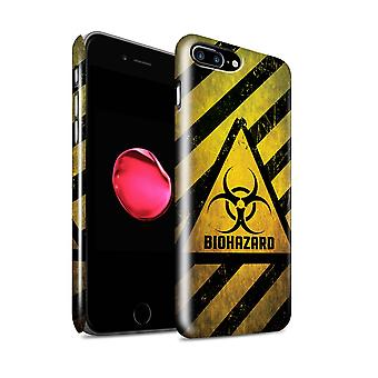STUFF4 glans tilbake hurtigfeste Telefon etui for Eple iPhone 7 pluss / Biohazard Design / fare Advarsel tegn samling