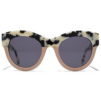 Stella McCartney Falabella Bold Chain Cateye Sunglasses In Beige Havana Pink