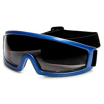 Multi-Purpose Adjustable Strap Safety Shield Lens Sports Goggles