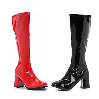 Chaussures Ellie E-300-HARLEY 3 Boot Knee High (Red Blk-gauche droite)