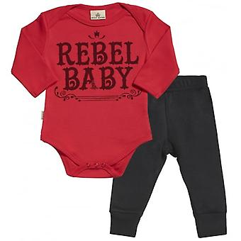 Verwöhnte faulen Rebel Baby Babygrow & Baby Jersey Hose Outfit-Set