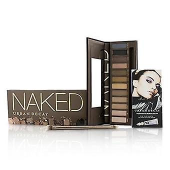 Urban Decay Naked Eyeshadow Palette: 12x Eyeshadow 1x Doubled Ended Shadow/Blending Brush - -