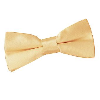 Boy's Pale Yellow Plain Satin Pre-Tied Bow Tie