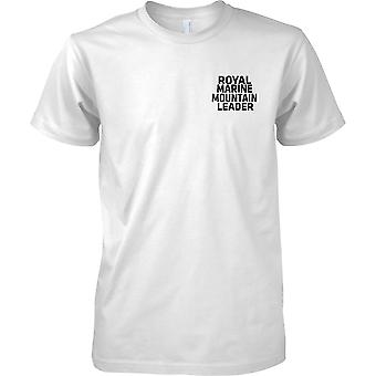 Royal Marine Mountain Leader - tekst - Herre brystet Design T-Shirt
