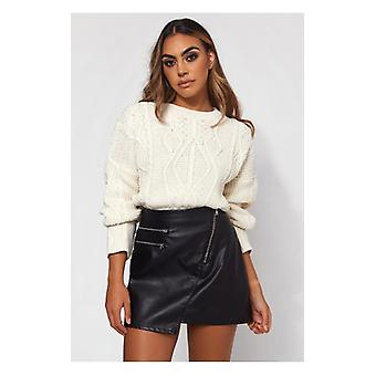 The Fashion Bible Tilia Cream Chunky Jumper