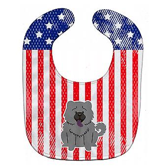 Carolines Treasures  BB3134BIB Patriotic USA Chow Chow Blue Baby Bib