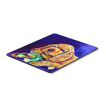 Cocker Spaniel with Frog Mouse Pad, Hot Pad or Trivet