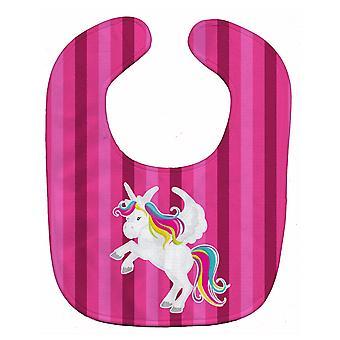 Carolines Treasures  BB9090BIB Unicorn Pink Stripes Baby Bib