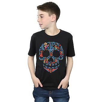 Disney мальчиков Коко череп шаблон футболку