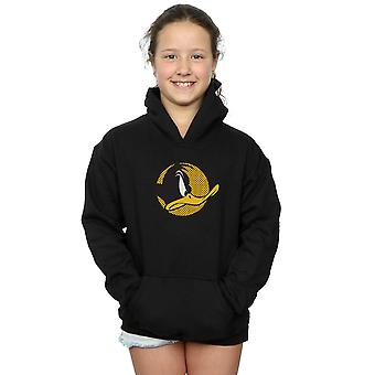 Looney Tunes Girls Daffy Duck Dotted Profile Hoodie