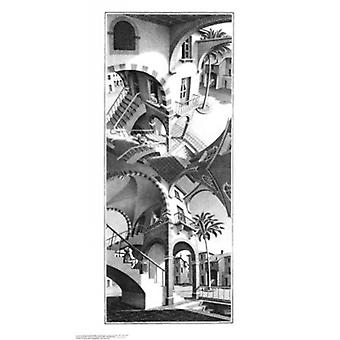 High and Low Poster Print by MC Escher (18 x 32)