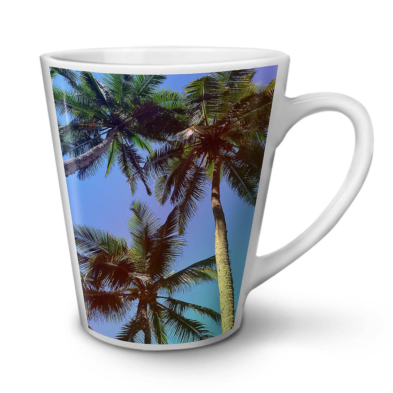 Céramique OzWellcoda 12 Photo Thé Mug Latte Café En Palm Summer Nouveau Blanc 3J1cTlFK
