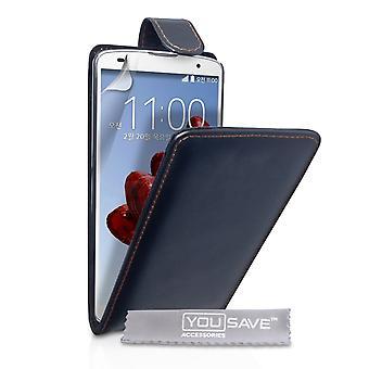Caseflex LG G Pro 2 étui Flip en cuir véritable - noir