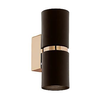 Eglo PASSA Barrel Up Down Brown Copper Wall Lamp