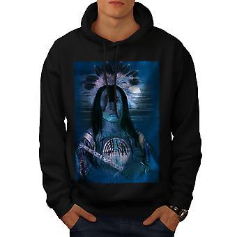 Indiske Mystic Sky mænd BlackHoodie | Wellcoda