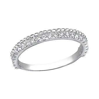 Eternity - 925 Sterling Silber jeweled Ringe