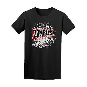 Sarjakuva zombeja! Graafinen t-paita - kuva: Shutterstock