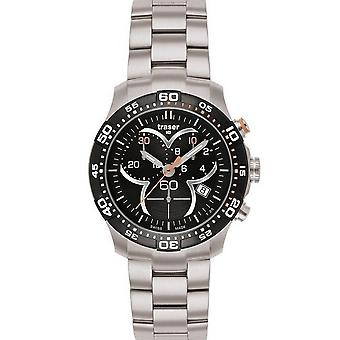 Traser H3 Ladytime black chronograph mens watch T7392. 2AH. G1A. 01 / 100298