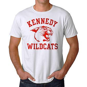 Undre år Kennedy vildkatte mænds hvid T-shirt