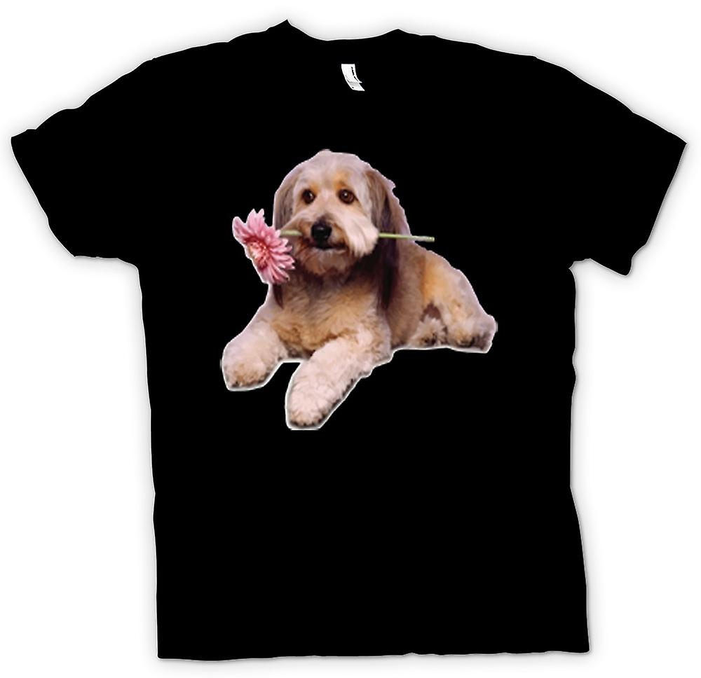 Womens T-shirt - Cute Puppy Dog Portrait