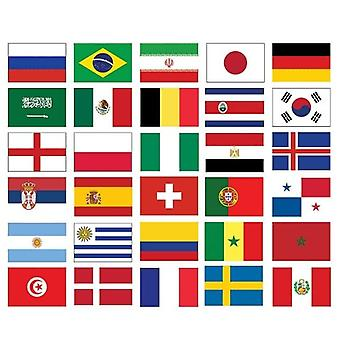 32 nationer fotboll World Cup 2018 flagga Pack (5 ft x 3 ft)
