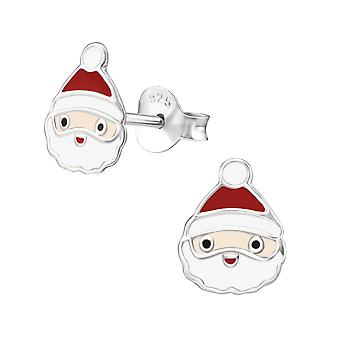 Santa Claus - 925 Sterling Silver Colourful Ear Studs
