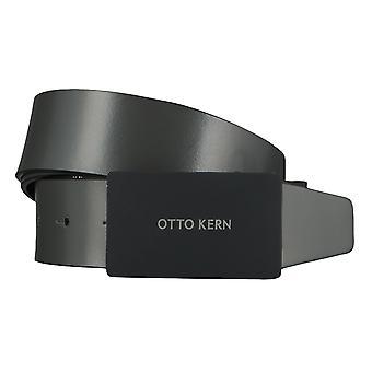 OTTO KERN belts men's belts leather belt Anthra/grey 4503
