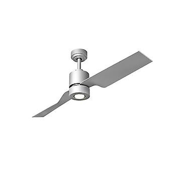 Direct current ceiling fan Tau Silver with lighting