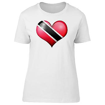 Trinidad And Tobago Heart Flag Tee Women's -Image by Shutterstock