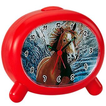 Atlanta 1183/1 p alarm clock kids alarm clock horse red horse alarm clock for kids