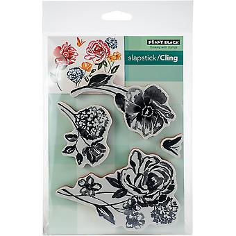 Penny Black Cling Stamps-Flower Pageant