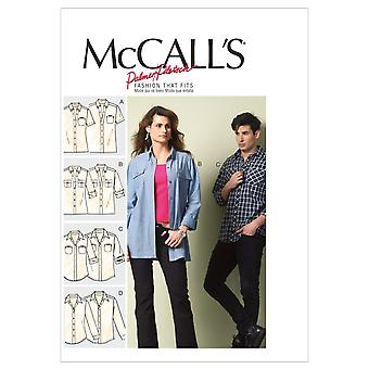 Misses'/Men's Shirts-XN (XLG-XXL-XXXL) -*SEWING PATTERN*