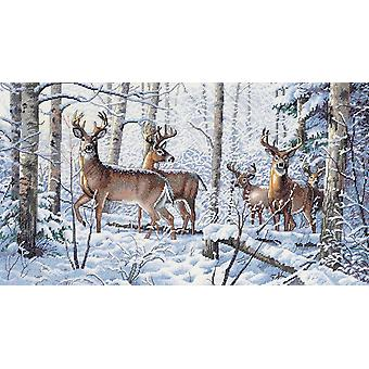 Gold Collection Woodland Winter Counted Cross Stitch Kit-18