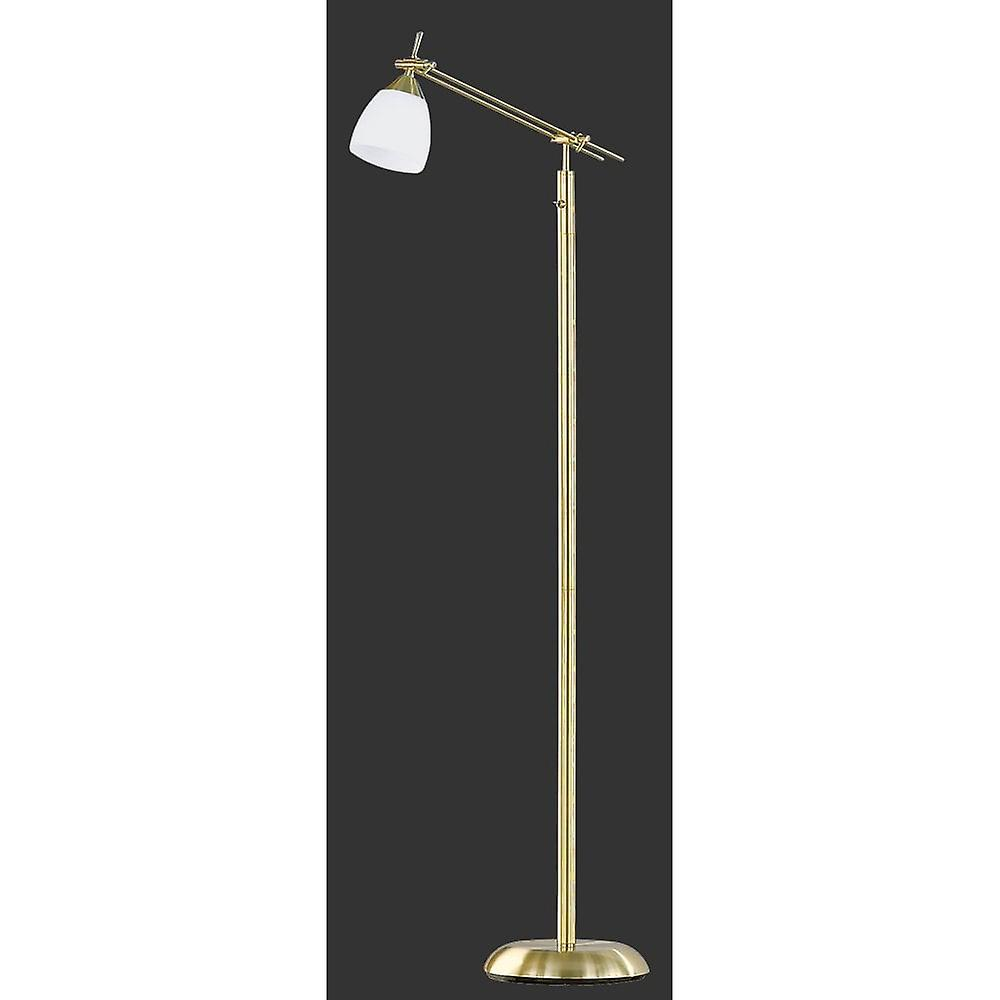 Trio Lighting Icaro Classic Brass Matt Metal Floor Lamp