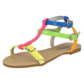 Ragazze sandali fluorescenti spot-on H0042